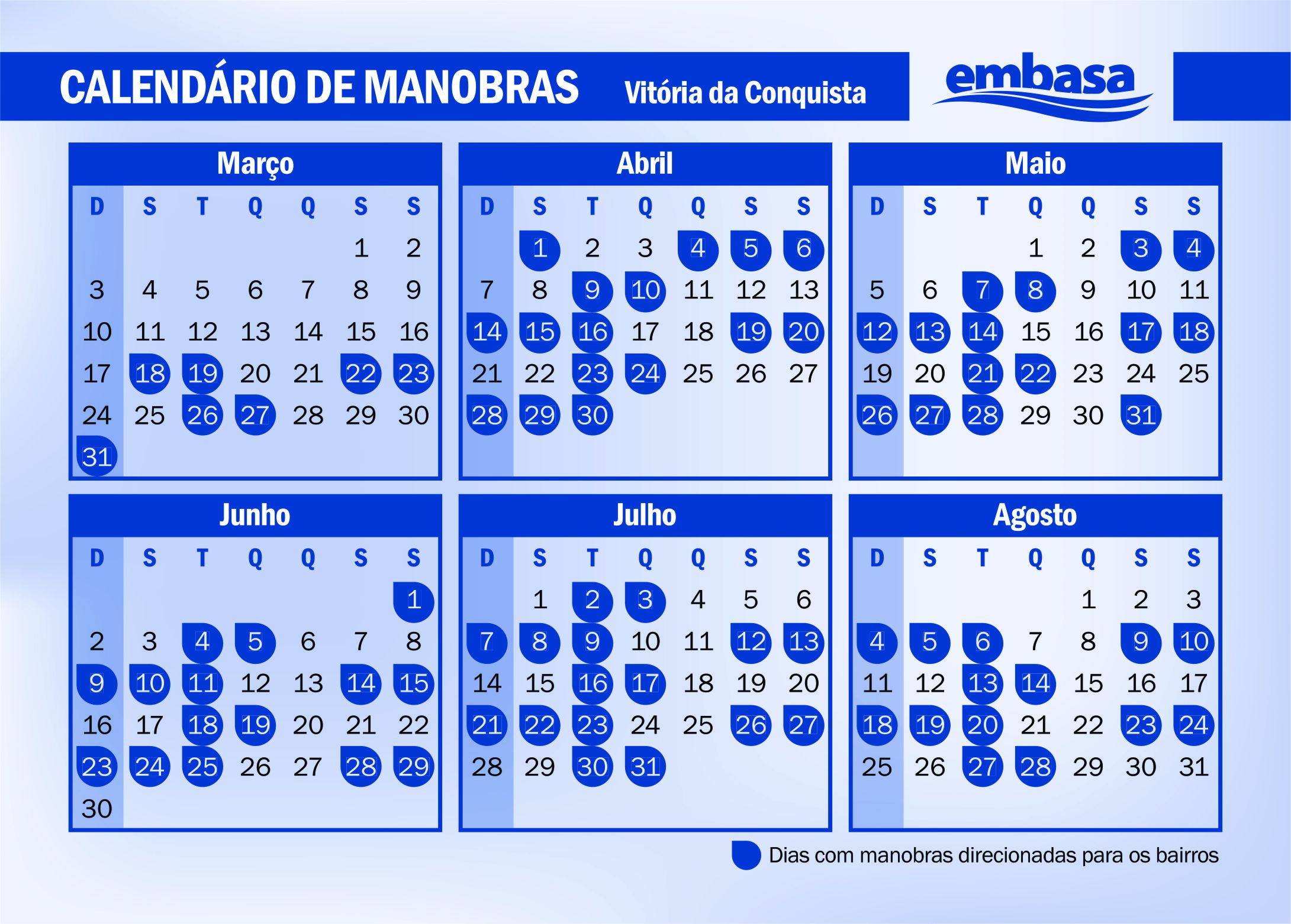 Calendário Grupo A