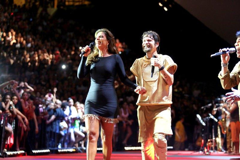 Saulo recebeu Ivete na gravação do seu primeiro DVD solo