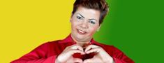 Comediante traz Dilma Rousseff a Vitória da Conquista