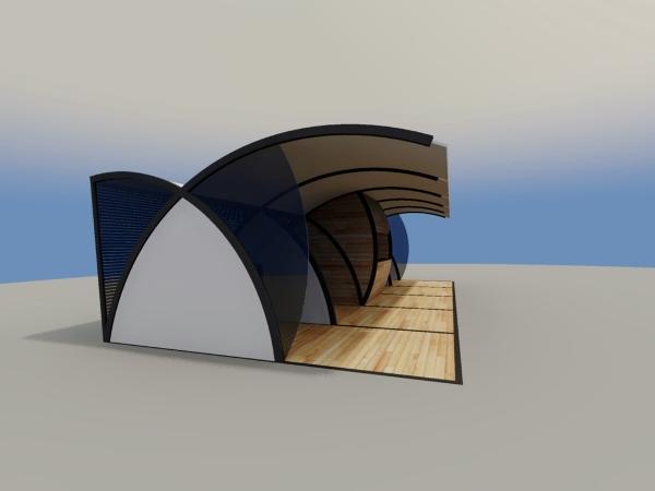 Serão instalados dois módulos com formato de quiosque, um com 50 m² e outro com 20 m², para o comércio da iguaria