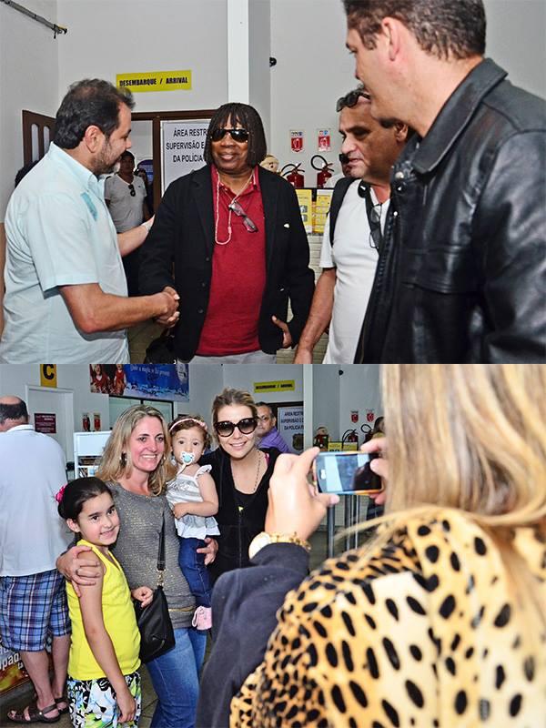 Milton Nascimento e Luiza Possi, as principais atrações do final de semana, já estão na cidade.