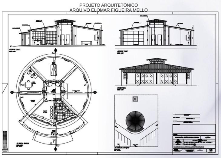 Projeto da sede do Arquivo é assinado pelo próprio Elomar