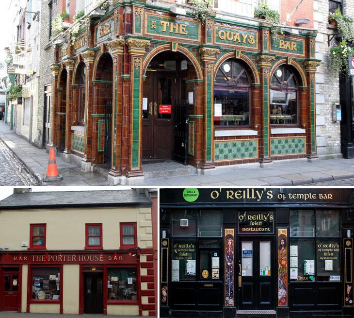 The Quays, The Porterhouse e O'Reilly's são os pubs preferidos da Talita