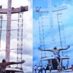 Vídeo mostra montagem do Cristo, de Mário Cravo