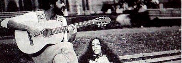 Cortesia: Gil e Gal em Londres, em 1971