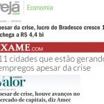Apesar da crise