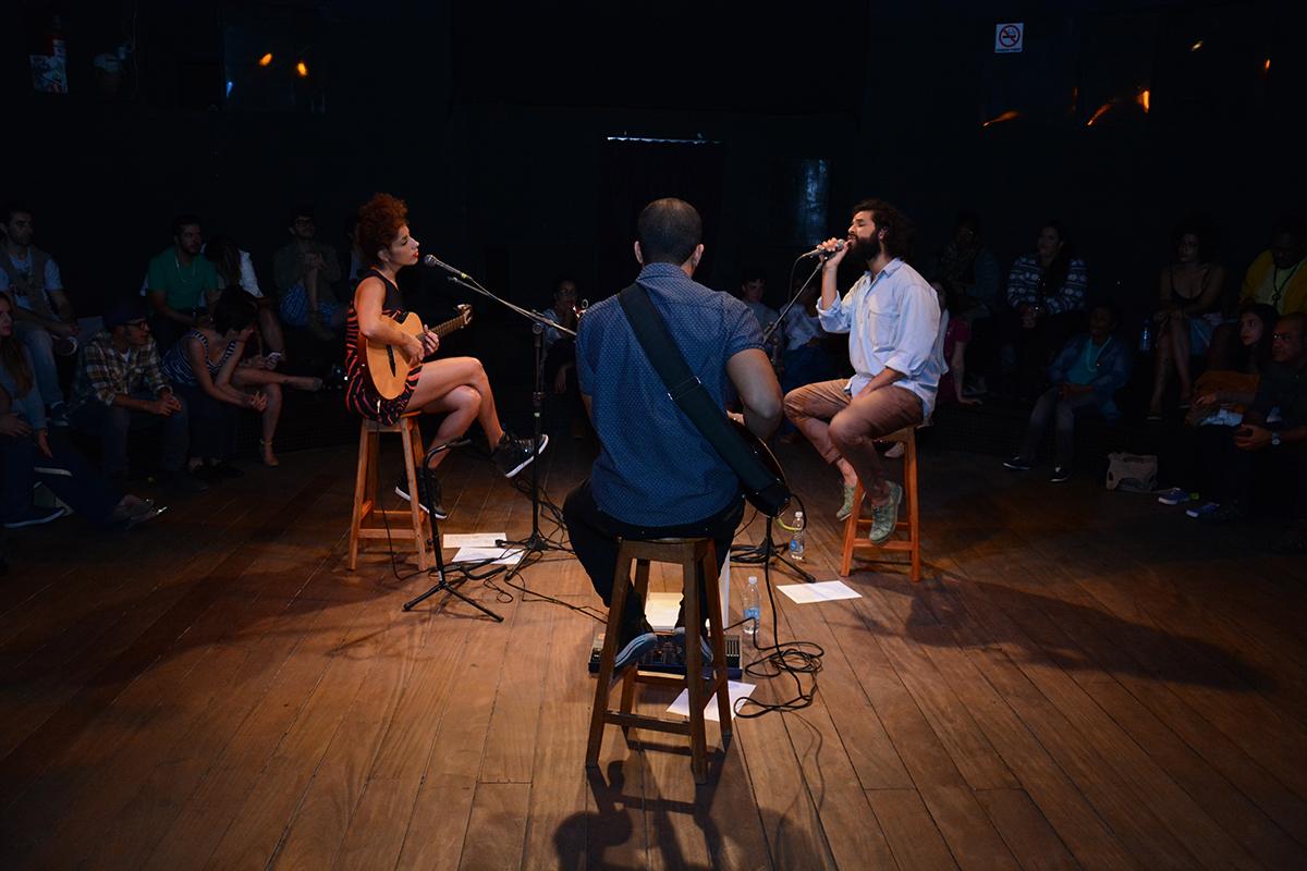 Achiles e Márcia Castro em apresentação no último dia 14 de julho